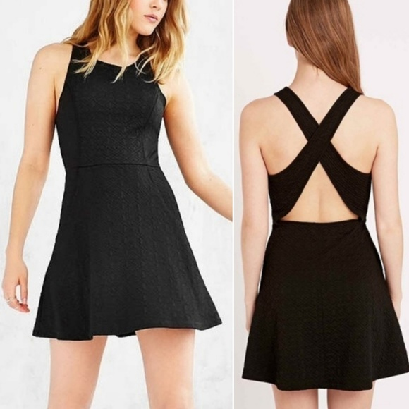 Urban Outfitters Dresses & Skirts - Silence + Noise Cross-Back Textured Mini Dress